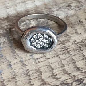 Silpada Sterling silver zircon ring 8